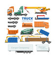 truck constructor delivery vehicle or cargo vector image