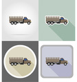 truck flat icons 08 vector image vector image