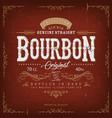 vintage bourbon label for bottle vector image vector image