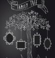 Vintage frames tree vector image vector image