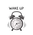 wake up alarm clock background image vector image