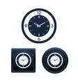 wall clock icon set isolated vector image