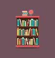 Flat Design Book Cabinet vector image