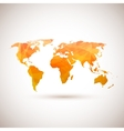 Low poly orange world map vector image