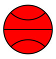 basketball in the flat style icon vector image