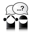 Two people with question mark vector image