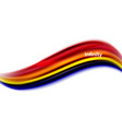 3d fluid colors wave background vector image