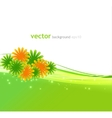 Abstract background with summer flower vector image vector image