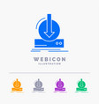 addition content dlc download game 5 color glyph vector image