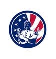 american barber usa flag icon vector image vector image