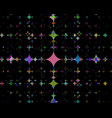 background of different stars vector image vector image