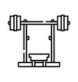 barbell fitness machine line icon concept sign vector image