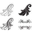 baroque set of vintage elements vector image