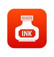 black ink bottle icon digital red vector image vector image