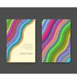 Business card with vivid lines Flyer layout vector image vector image