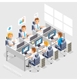 Business People Working On An Office Desk vector image vector image