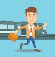 businessman at train station vector image vector image