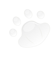 button in pad shape vector image