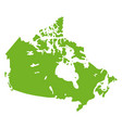 canada map geographical graphic country border vector image