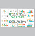 car service and auto repair multipurpose vector image vector image