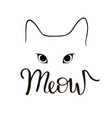 cat meow vector image