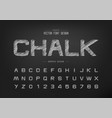 chalk font and alphabet hand draw design vector image vector image