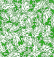 Christmas holly seamless pattern vector image vector image