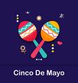 cinco de mayo mexican festive banner poster of vector image vector image