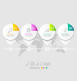 circle infographic elements layout 4 steps for vector image vector image