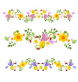 collection banners spring flowers for your design vector image vector image