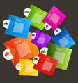 Colorful Paper Sheets - Labels Infographics Design vector image vector image