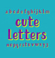 cute letters typeface cartoon font isolated vector image vector image