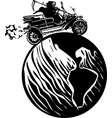 death driving around world vector image vector image