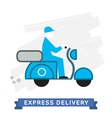 Express Delivery Symbols Scooter Delivery vector image