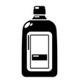 flat bottle icon simple style vector image vector image