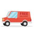 free shipping car vector image vector image