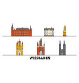 germany wiesbaden flat landmarks vector image vector image