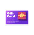 gift card with box classical pattern on red vector image vector image