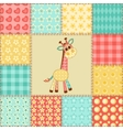 Giraffe patchwork pattern vector image vector image