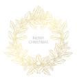 golden christmas wreath vector image vector image