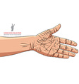 Hand prepared for handshake detailed vector image vector image