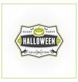 happy halloween badge sticker label design vector image vector image