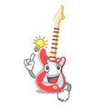 have an idea electric guitar isolated with the vector image