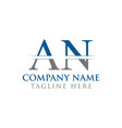 initial an letter logo with creative modern vector image vector image