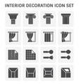 interior decoration icon vector image