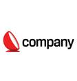 luxury design furniture logo vector image vector image
