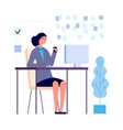 manager at work multitask businesswoman planning vector image vector image