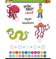 math task for preschool kids vector image vector image