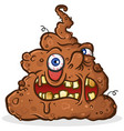 melting poop monster cartoon character vector image vector image