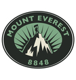 Mount Everest emblem vector image